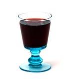 błękitny szklany czerwone wino Zdjęcia Royalty Free