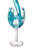 błękitny szklany warer Zdjęcia Royalty Free