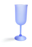 błękitny szklany wino Zdjęcia Royalty Free