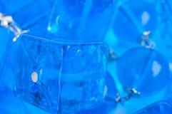 Błękitny szklanych koralików tło Zdjęcie Royalty Free