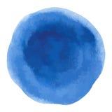 Błękitny szorstki akwarela okręgu punktu sztandar Obrazy Royalty Free