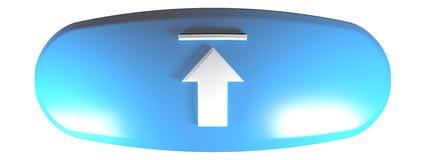 Błękitny szpotawy zaokrąglony prostokąta UPLOAD - 3D renderingu ilustracja ilustracja wektor