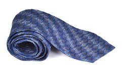 błękitny szyi paska krawat Obraz Stock