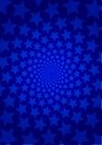 błękitny tło gwiazda Obrazy Royalty Free