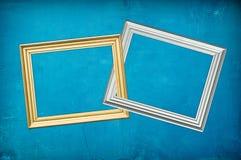 błękitny tło ramy dwa Fotografia Royalty Free