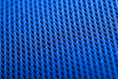 Błękitny tło. Siatki tkaniny tekstura. Makro- Zdjęcie Stock
