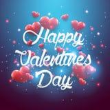 Błękitny tło valentines dnia rocznika literowania tło Fotografia Stock