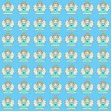 Błękitny tło z ślicznymi małymi aniołami Zdjęcie Royalty Free