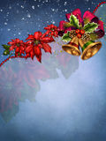 Błękitny tło z dzwonami Obraz Royalty Free