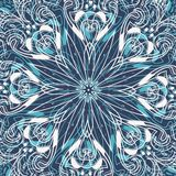 Błękitny tło z płatkami śniegu ilustracji