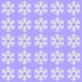 Błękitny tło z płatkami śniegu royalty ilustracja