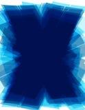 Błękitny tło z techniki X listowym kształtem futurystyczny schematu Obrazy Royalty Free