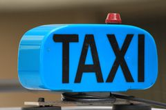 błękitny taxi Obrazy Royalty Free