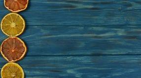 Błękitny tekstury tło z pomarańcze Obrazy Royalty Free