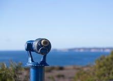 Błękitny teleskop na wybrzeżu Malibu Obraz Stock