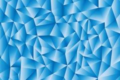 Błękitny trójboka wielobok ilustracja wektor