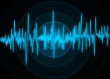 Błękitny trzęsienie ziemi monitor ilustracja fotografia stock