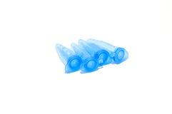 Błękitny tubki Zdjęcia Royalty Free