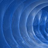Błękitny tunel obraz royalty free