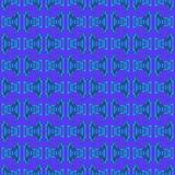 Błękitny Turkusowy Plemienny wzór Fotografia Royalty Free