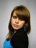 błękitny ucho dzwoni kobiety Zdjęcia Stock