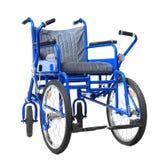 Błękitny wózek inwalidzki na tle Obraz Stock
