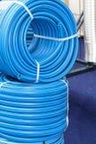 Błękitny wąż elastyczny fotografia royalty free