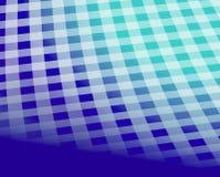 Błękitny w kratkę tablecloth wzór Obraz Royalty Free