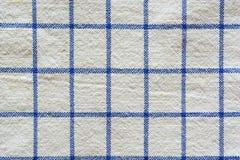 błękitny w kratkę tkanina Zdjęcia Royalty Free
