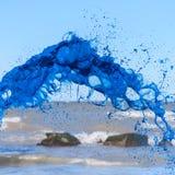 Błękitny watercolour pluśnięcie Zdjęcia Stock