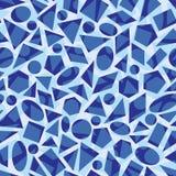 Błękitny wektorowy powtórka wzór z geometrical kształtami ilustracja wektor