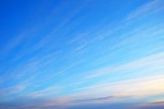 Błękitny wieczór niebo Fotografia Royalty Free