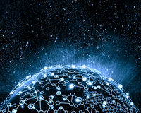 Błękitny wizerunek kula ziemska obrazy stock