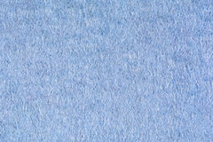Błękitny woolen tkaniny tekstury tło, zamyka up Zdjęcie Royalty Free