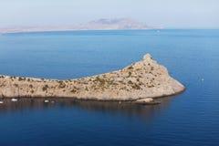 błękitny wyspa Laguna Zdjęcia Royalty Free