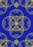 błękitny złota wzoru królewski bezszwowy Obrazy Stock