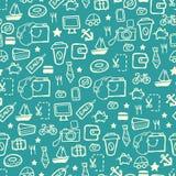 Błękitny zakupy wzór Obraz Royalty Free