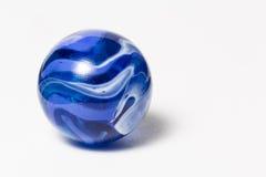 Błękitny zawijasa marmur Zdjęcia Stock