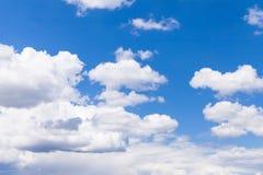 błękitny zbliżenia chmury niebo Zdjęcie Stock