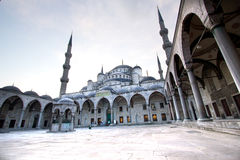 błękitny zewnętrzny meczetowy widok Obraz Royalty Free