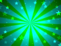 błękitny zieleni gwiazdy Obraz Stock