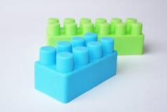 błękitny zieleni lego Fotografia Stock