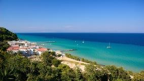 błękitny zielonego morza lato czas woda obraz royalty free