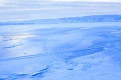 Błękitny zima krajobraz Obrazy Royalty Free
