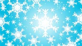 Błękitny zima płatka śniegu bożych narodzeń tło ilustracja wektor