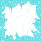Błękitny zimy tło Obrazy Royalty Free