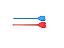 błękitny zmrok - czerwony kanapki kordzika typ Zdjęcia Royalty Free