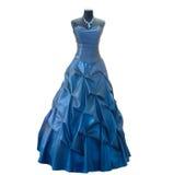 błękitny zmroku sukni atrapa Obrazy Royalty Free