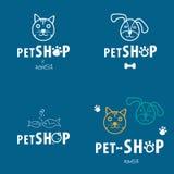 Błękitny zwierzę domowe sklepu biznesu set Zdjęcie Stock