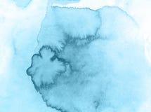Błękitnych bożych narodzeń akwareli kreatywnie tło, piękna planeta royalty ilustracja